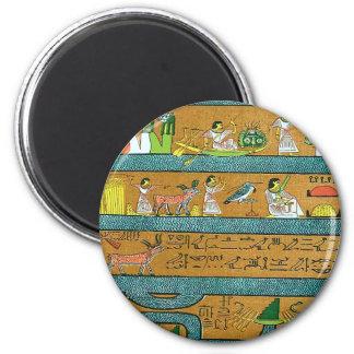 Egyptian Wall Art 6 Cm Round Magnet