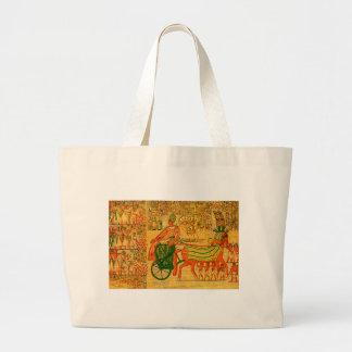 Egyptian Wall Art Jumbo Tote Bag