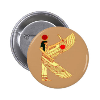 Egyptian Wall Art Pinback Button