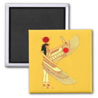 Egyptian Wall Art Square Magnet