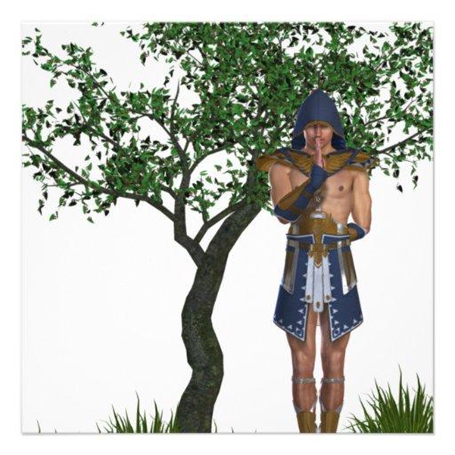 Egyptian Warrior Custom Invite