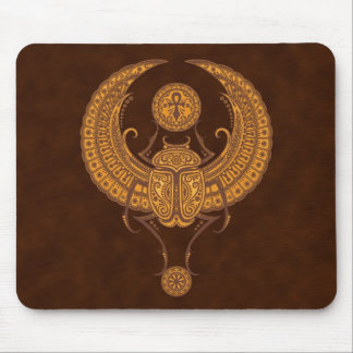 Egyptian Winged Scarab Mouse Pad