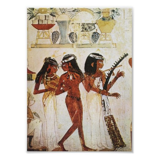 Egyptian Women Musicians Postcard Poster