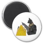 EgyptianCatSunPyramid021411 6 Cm Round Magnet