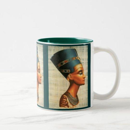 Egyptica Queen Nefertiti Ancient History Drinkware Two-Tone