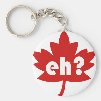 Eh? Basic Round Button Key Ring
