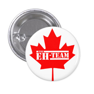 Eh Team Canada Maple Leaf 3 Cm Round Badge