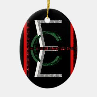 EHC Matrix Chaotic Symbol Ceramic Oval Decoration