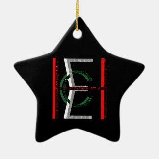 EHC Matrix Chaotic Symbol Ceramic Star Decoration