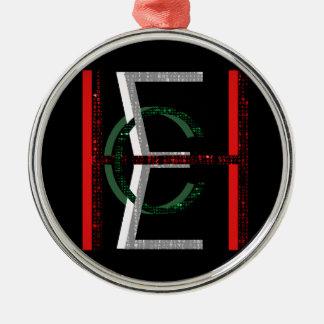 EHC Matrix Chaotic Symbol Round Metal Christmas Ornament