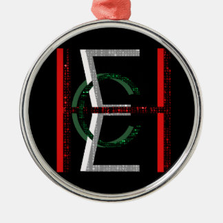 EHC Matrix Chaotic Symbol Silver-Colored Round Decoration