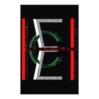 EHC Matrix Chaotic Symbol Stationery Design