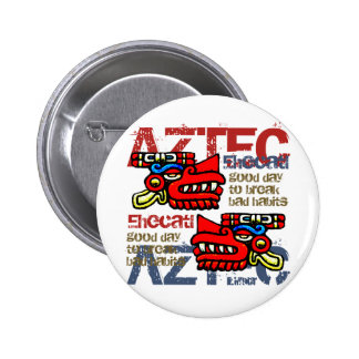 Ehecatl - Aztec Gifts Greetings Button