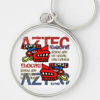 Ehecatl - Aztec Gifts & Greetings Silver-Colored Round Key Ring