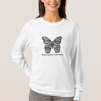 Ehlers Danlos Awareness Zebra Butterfly Shirt