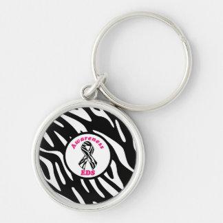 Ehlers-Danlos Awareness Zebra Stripe Key Chains
