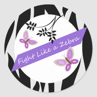 Ehlers-Danlos EDS Fight Like A Zebra Classic Round Sticker