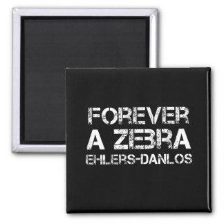 Ehlers-Danlos Forever a Zebra Black Magnet