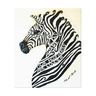 Ehlers Danlos Syndrome Awareness Art Stretched Canvas Prints