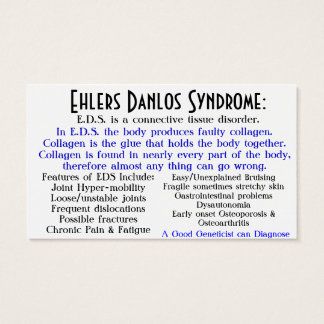 ehlers danlos syndrome awareness card