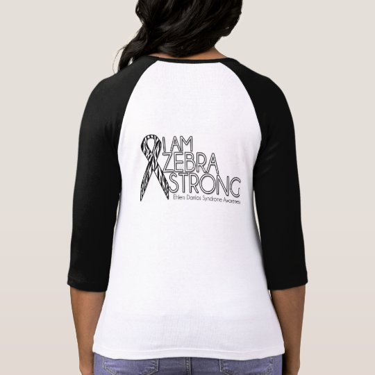 Ehlers-Danlos Syndrome Awareness Zebra Strong T-Shirt