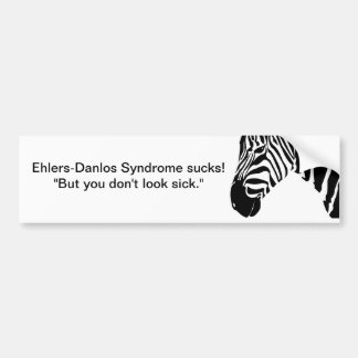 Ehlers-Danlos Syndrome sucks! Bumper Sticker