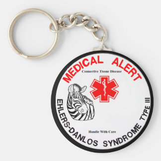 Ehlers Danlos Type 3 Medical Alert Basic Round Button Key Ring