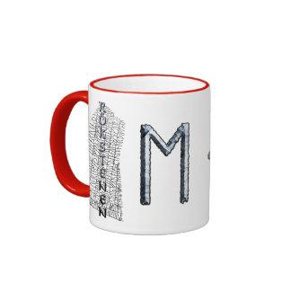 Ehwaz rune mug