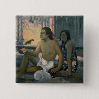 Eiaha Ohipa or Tahitians in a Room, 1896 15 Cm Square Badge