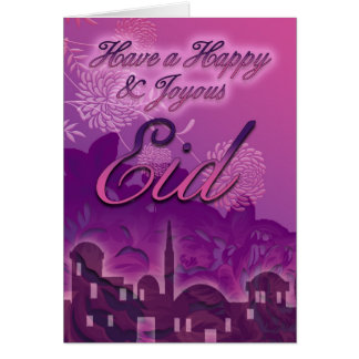 Eid Card, Happy And Joyous Eid, Purple Card