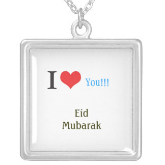 Eid gift for girls square pendant necklace