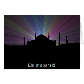 Eid greeting card - Mosque outline
