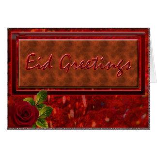 Eid Greetings - Rosey Card