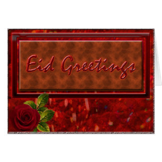 Eid Greetings - Rosey Greeting Card