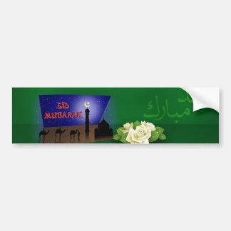 Eid Mubarak 3D Greeting - Bumper Sticker