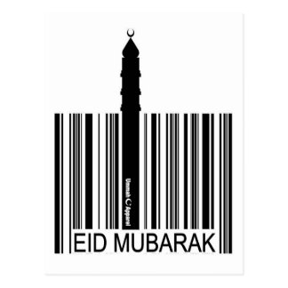 Eid Mubarak Barcode Post Cards