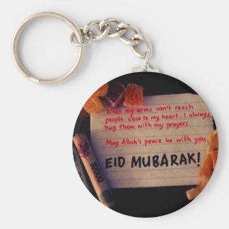 eid-mubarak basic round button key ring