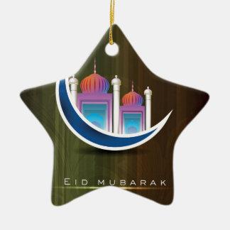 Eid mubarak ceramic star decoration