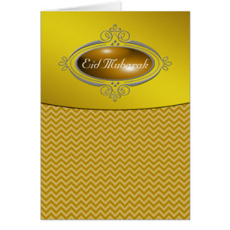 Eid Mubarak Gold Chevron Card