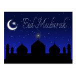 Eid Mubarak - Islamic Greeting Postcard