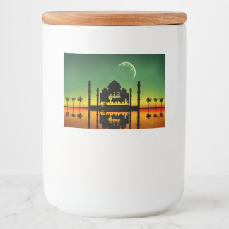 Eid Mubarak Night Reflection Food Container Label