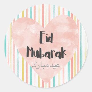 Eid Mubarak pastels Round Sticker