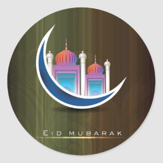 Eid mubarak round sticker