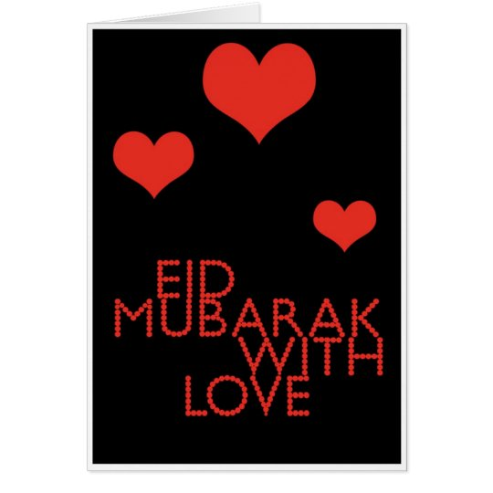 eid mubarak with love card
