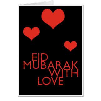 eid mubarak with love greeting card