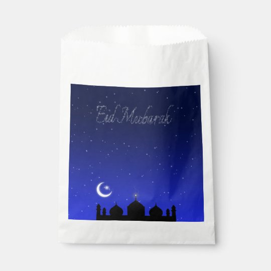 Eid Night Stars Mosque - Favour Bag