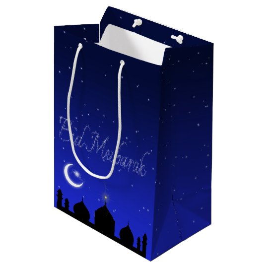 Eid Night Stars Mosque - Medium Gift Bag
