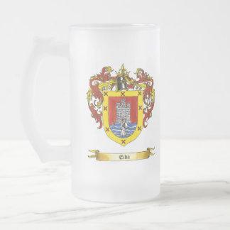 Eida Shield of Arms Frosted Glass Mug