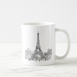 Eifel Tower Paris Basic White Mug