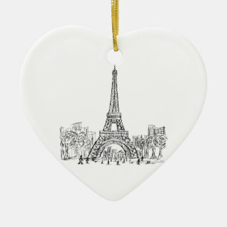 Eifel Tower Paris Christmas Ornament